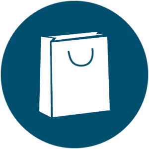 Icon of shopping bag