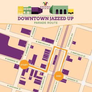 downtown jazzed up map